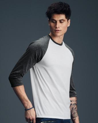 T-shirt Unisex Tri-Blend maniche 3/4 raglan