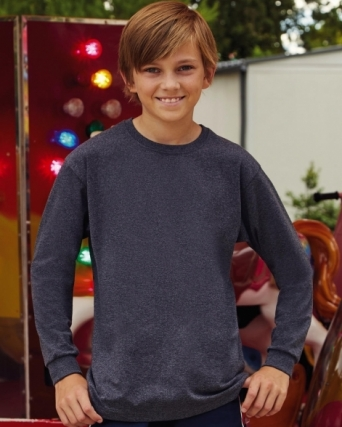 T-shirt bambino maniche lunghe Valueweight