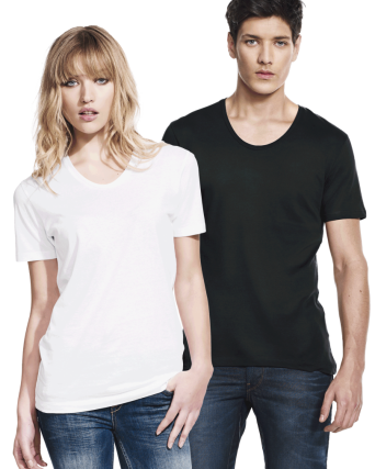 T-shirt uomo / Unisex collo largo