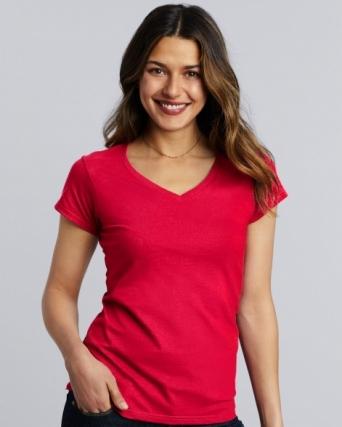 T-shirt donna con scollatura a V Gildan Softstyle®